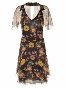Chanel Pre-Owned Sleeveless One Piece Dress - Brown