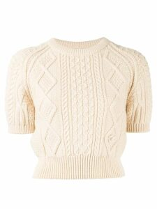 Chanel Pre-Owned cable knit jumper - White