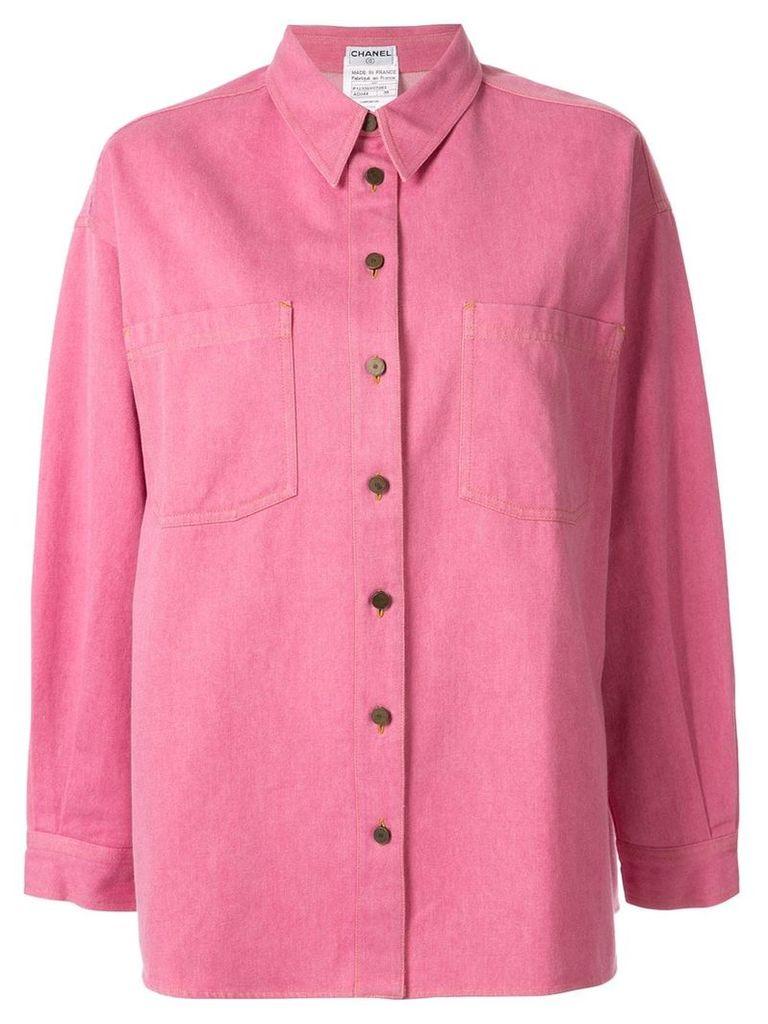 Chanel Vintage oversized shirt jacket - Pink