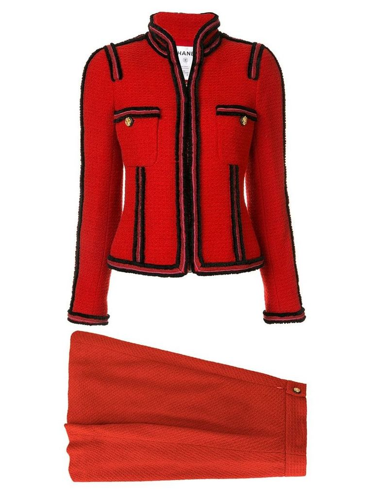 Chanel Vintage two-piece skirt suit - Red