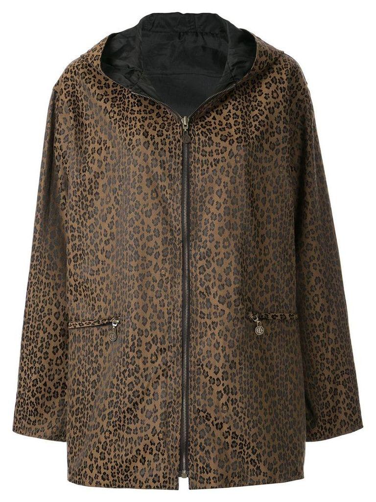 Fendi Pre-Owned reverislbe hooded coat - Brown