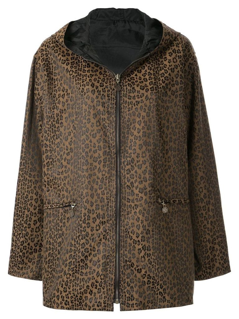 Fendi Vintage reverislbe hooded coat - Brown