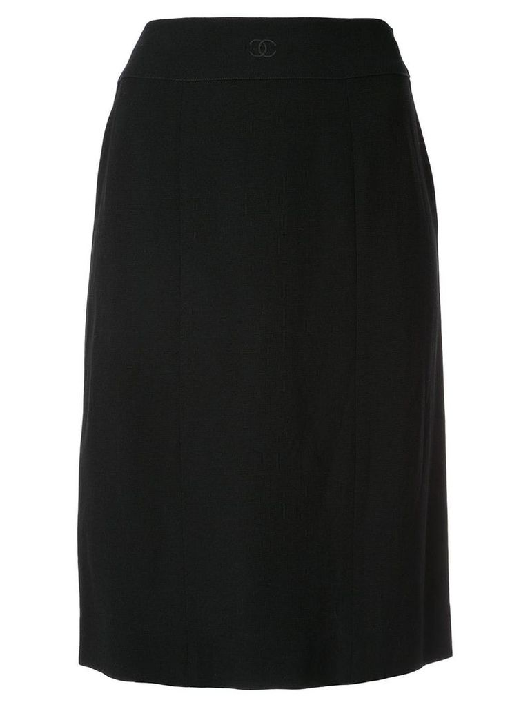 Chanel Vintage knee-length pencil skirt - Black