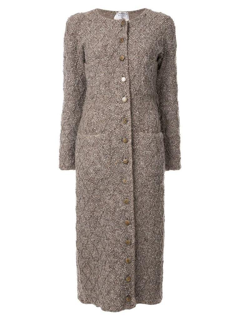 Chanel Vintage button-embellished cardigan coat - Brown
