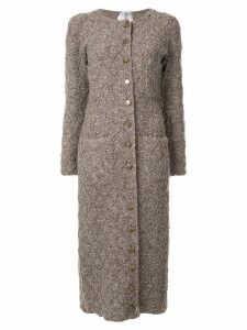 Chanel Pre-Owned button-embellished cardigan coat - Brown