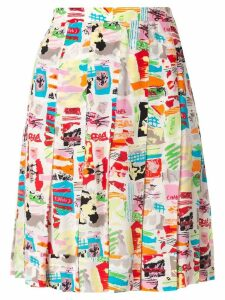 Chanel Pre-Owned printed pleated mini skirt - Multicolour