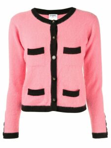 Chanel Pre-Owned two-tone cashmere cardigan - Pink