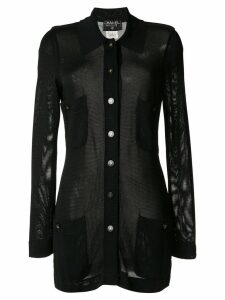 Chanel Pre-Owned semi-sheer cardigan - Black