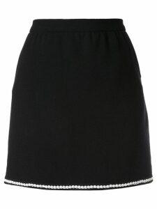 Chanel Pre-Owned contrast trim mini skirt - Black