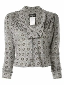 Chanel Pre-Owned CC long sleeve tops - Grey