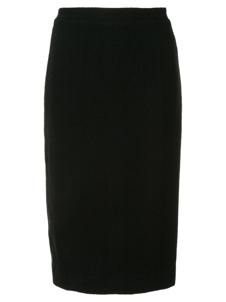 Chanel Pre-Owned midi pencil skirt - Black