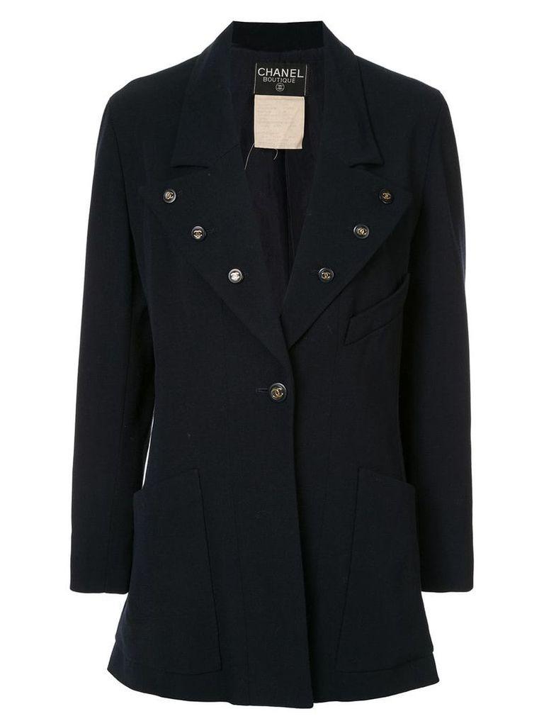 Chanel Vintage button-embellished blazer - Blue