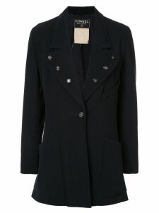 Chanel Pre-Owned button-embellished blazer - Blue