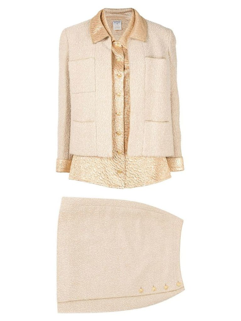 Chanel Vintage three-piece skirt suit - Gold