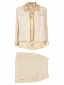 Chanel Pre-Owned three-piece skirt suit - GOLD