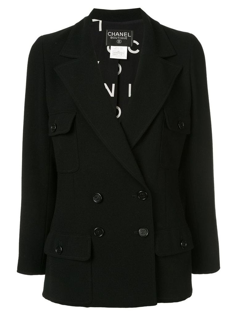 Chanel Vintage double-breasted blazer - Black
