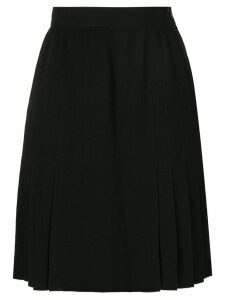 Chanel Pre-Owned pleated panel mini skirt - Black