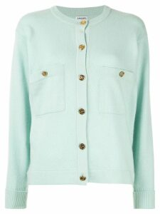 Chanel Pre-Owned button-embellished cashmere cardigan - Green