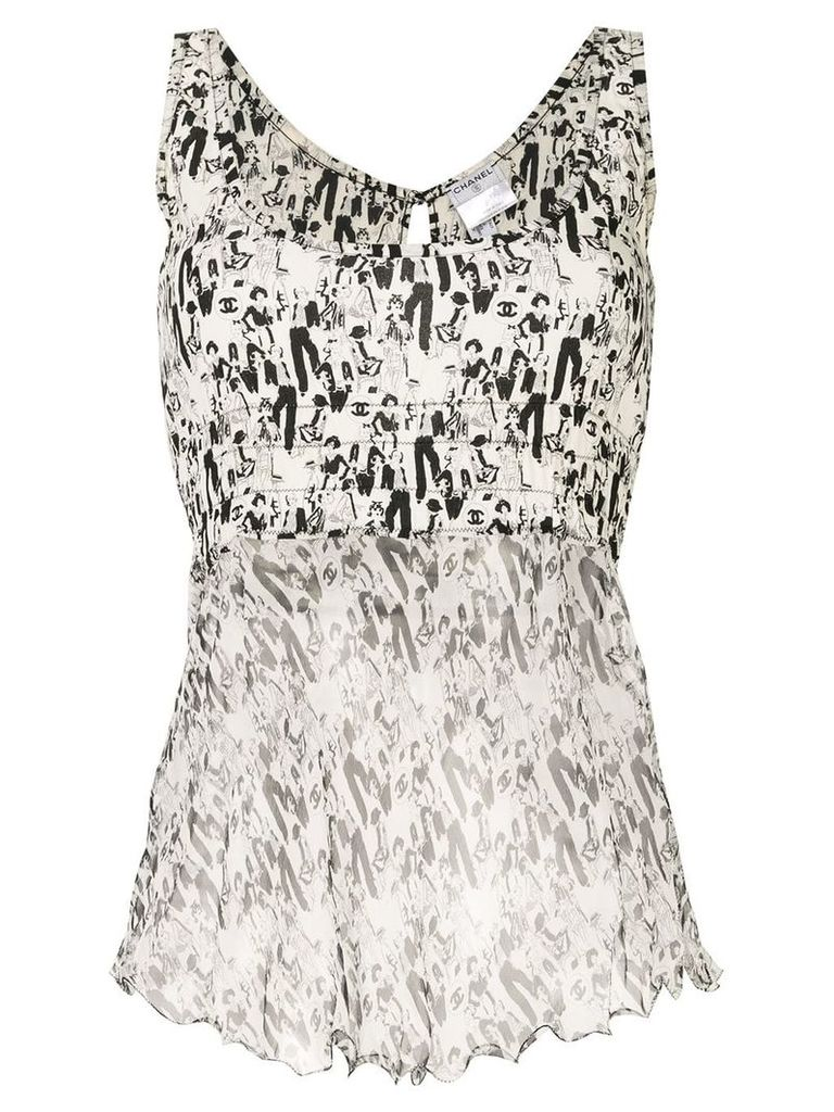 Chanel Vintage CC Mademoiselle Tops - White