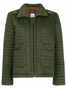 Chanel Pre-Owned quilted zip-up jacket - Green