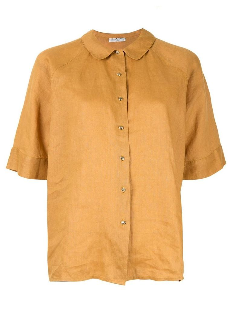 Chanel Vintage Peter Pan collar shirt - Yellow
