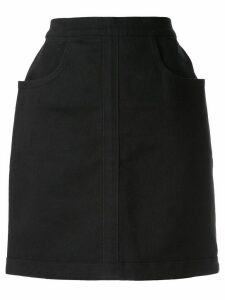 Chanel Pre-Owned straight-fit mini skirt - Black