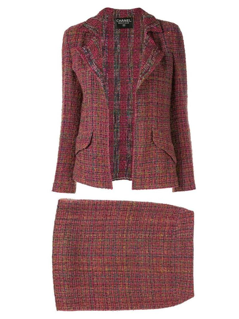 Chanel Pre-Owned two-piece skirt suit - PURPLE