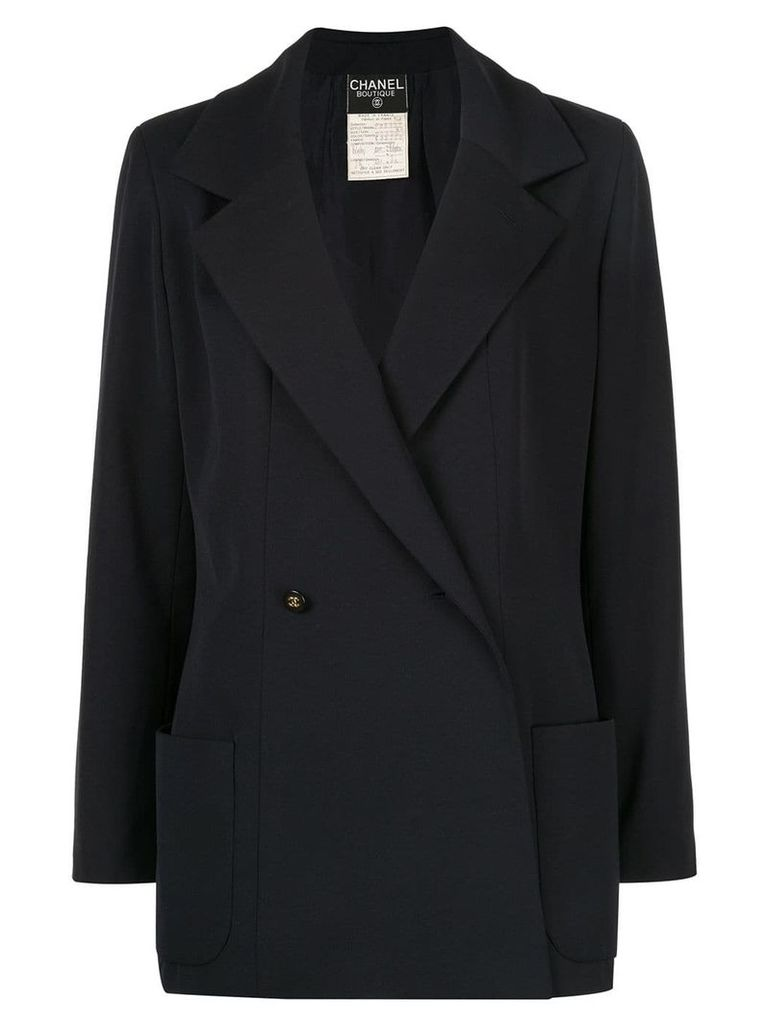 Chanel Vintage double-breasted blazer - Blue