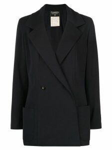 CHANEL PRE-OWNED double-breasted blazer - Blue