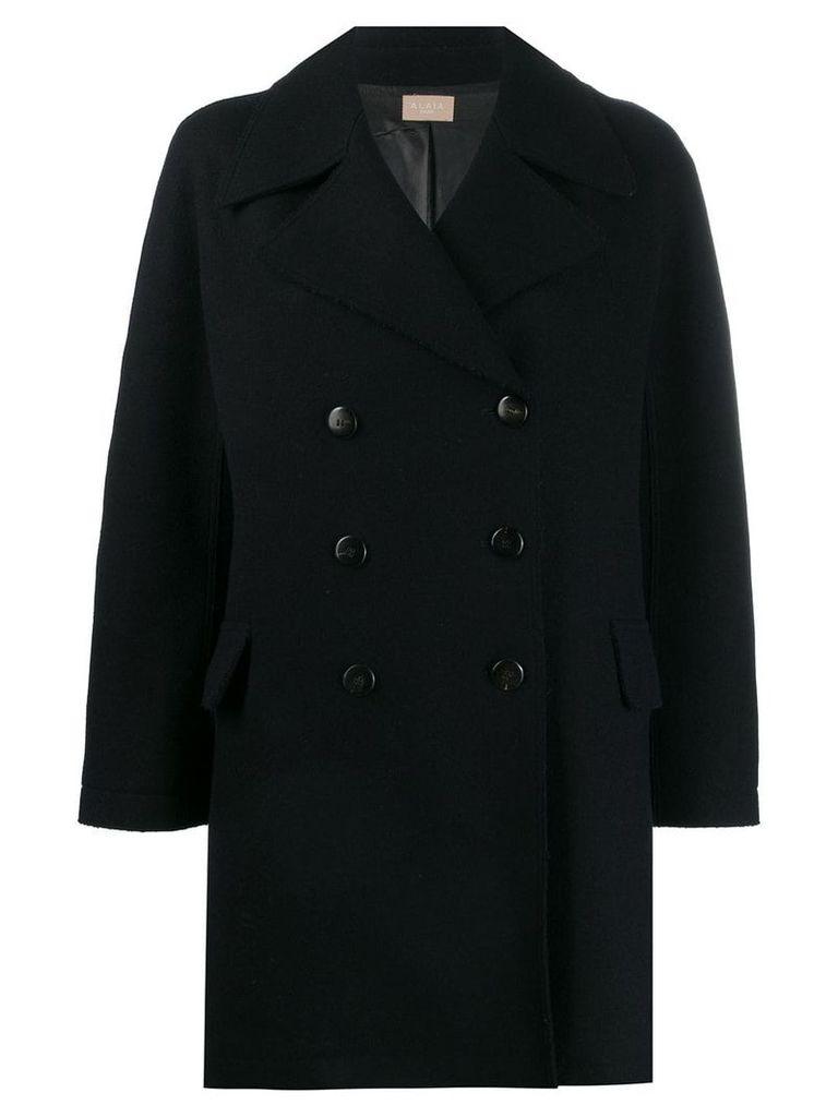 Alaïa Vintage double breasted short coat - Blue