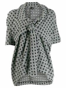 Yohji Yamamoto Pre-Owned patterned knot detail jacket - Black