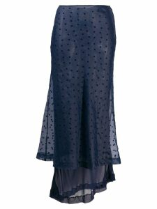 COMME DES GARÇONS PRE-OWNED 1990's layered polka-dot skirt - Blue