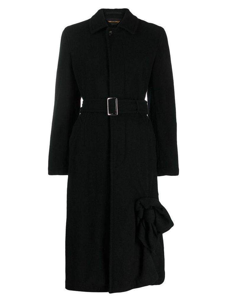 Comme Des Garçons Pre-Owned long belted coat - Black