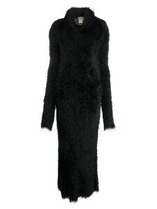 Yohji Yamamoto Pre-Owned faux fur maxi dress - Black