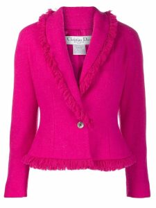 Christian Dior Pre-Owned fringed blazer - Pink