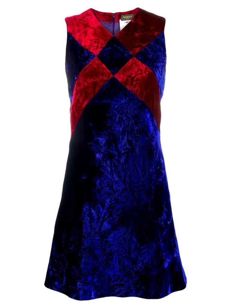 Versace Vintage crushed velvet mini dress - Blue