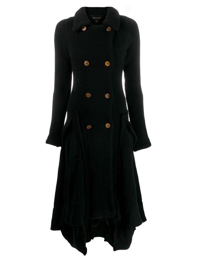 Comme Des Garçons Vintage long knitted coat - Black