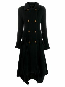 Comme Des Garçons Pre-Owned long knitted coat - Black