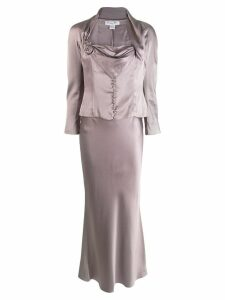 CHRISTIAN DIOR PRE-OWNED two-piece skirt suit - Grey