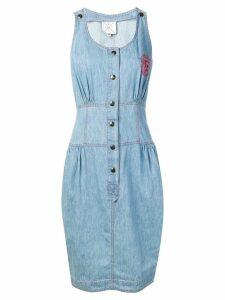 FENDI PRE-OWNED 1980's sleeveless denim dress - Blue