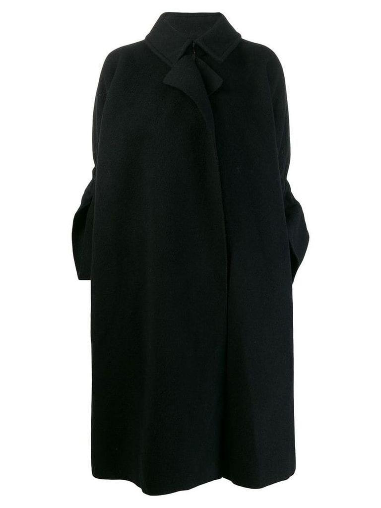 Comme Des Garçons Vintage 1995's slit cuffs oversized coat - Black