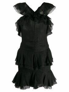 Christian Dior Pre-Owned 2000's ruffled mini dress - Black