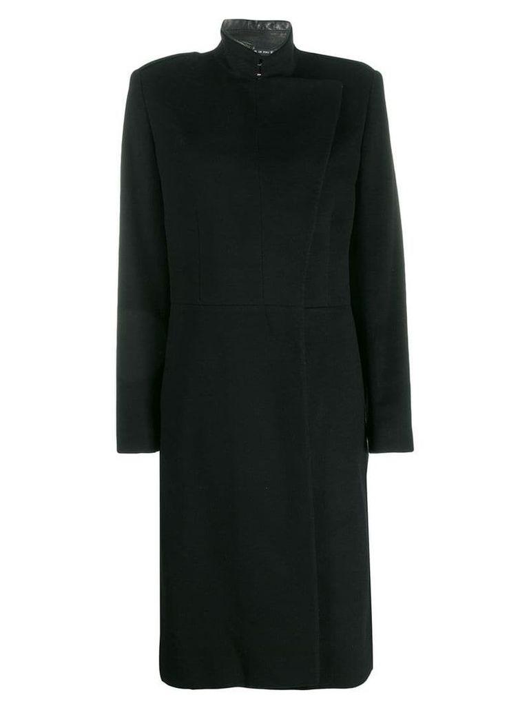 Gucci Vintage 2005's double breasted midi coat - Black