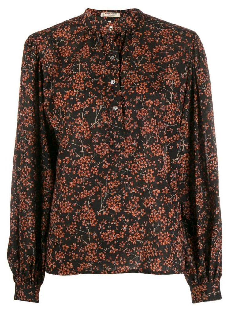 Yves Saint Laurent Vintage 1970's balloon sleeves floral blouse -