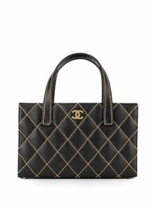 Chanel Pre-Owned Wild Stitch quilted tote bag - Black