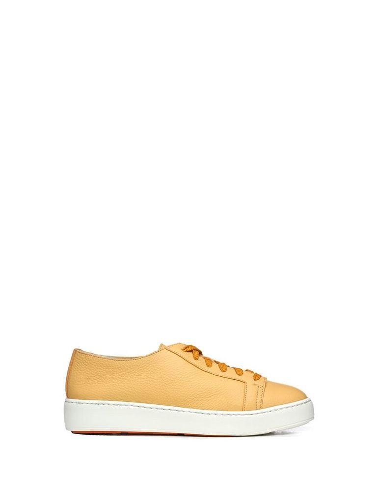 Santoni Santoni Club Yellow Sneakers