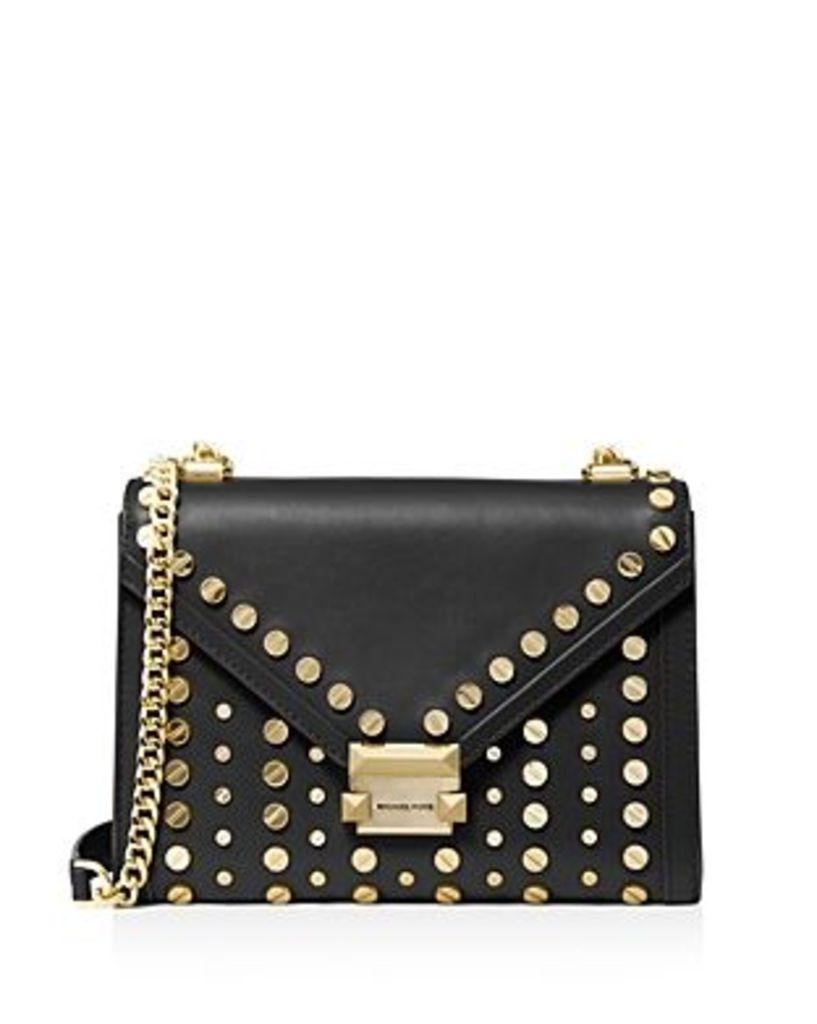 Michael Michael Kors Whitney Large Studded Leather Shoulder Bag