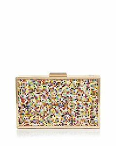 Aqua Beaded Box Frame Clutch - 100% Exclusive
