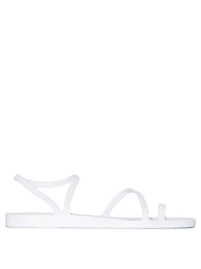Ancient Greek Sandals Eleftheria braid sandals - White