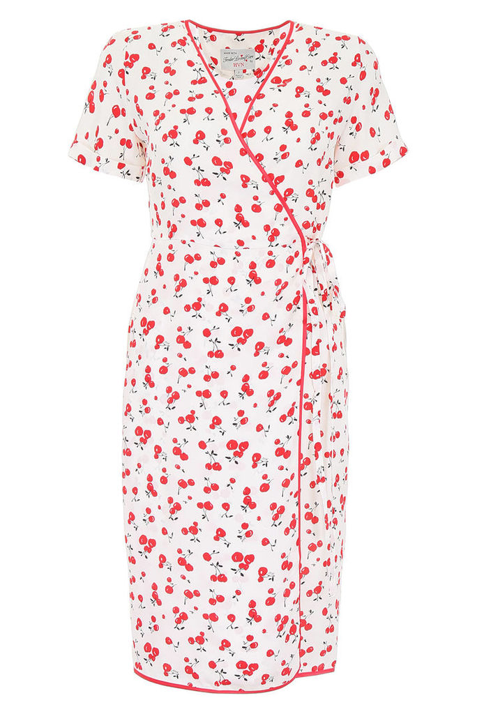 HVN Cherry Print Vera Dress